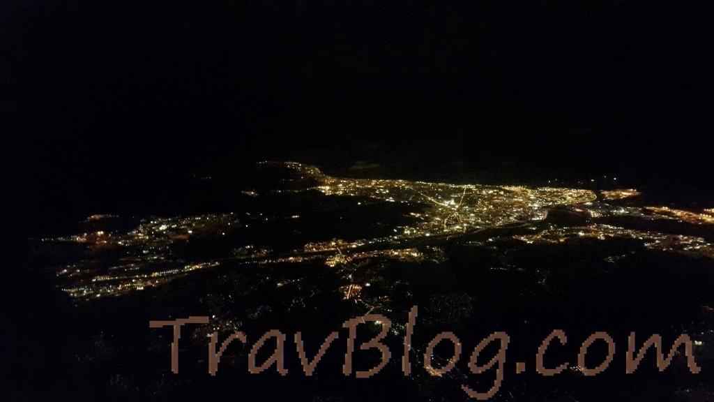 Barcelona-night view-flight view