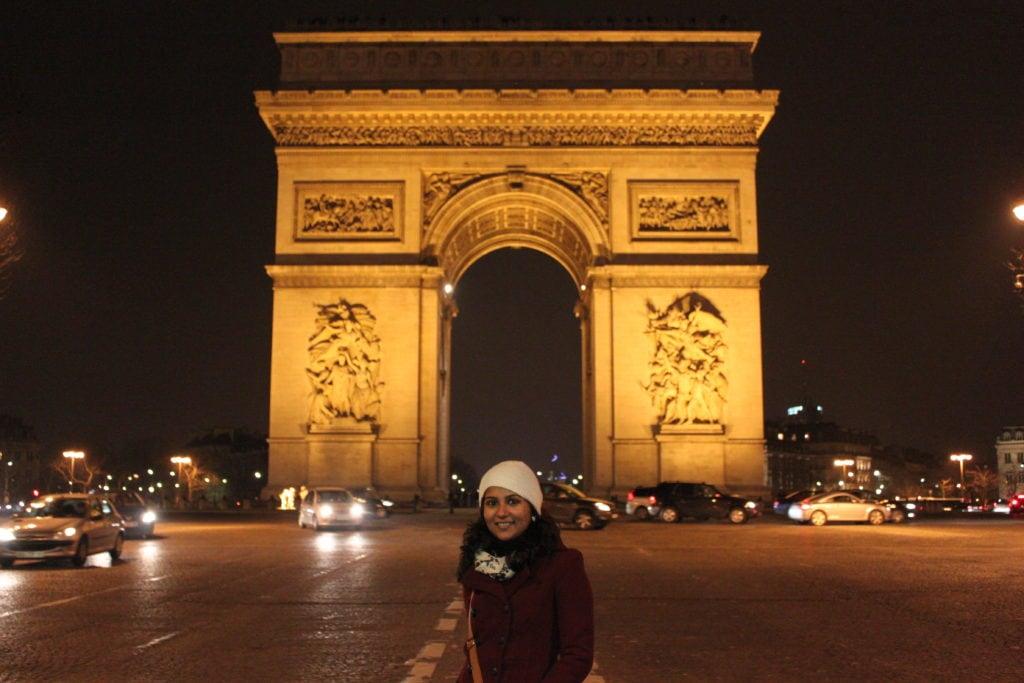 Arc de Triomphe, Paris, Sparkling Eiffel