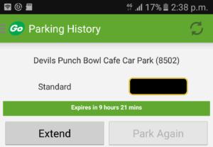 Devils Punch Bowl car park- Ring Go Reference no.